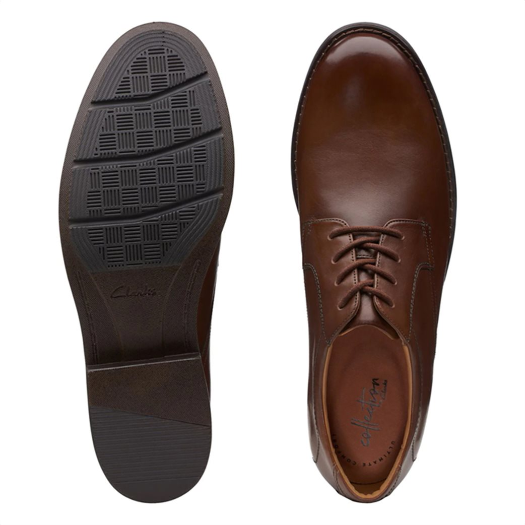 """Clarks ανδρικά δερμάτινα παπούτσια oxford """"Becken Lace"""" 4"""