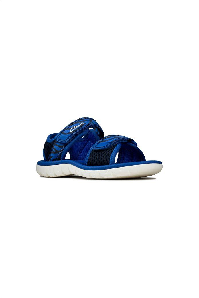 Clarks παιδικά σανδάλια με διπλό velcro (28-35) Μπλε Σκούρο 0