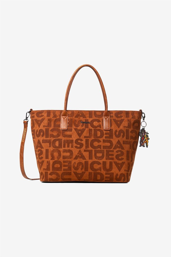 Desigual γυναικεία τσάντα ώμου με logo print 0