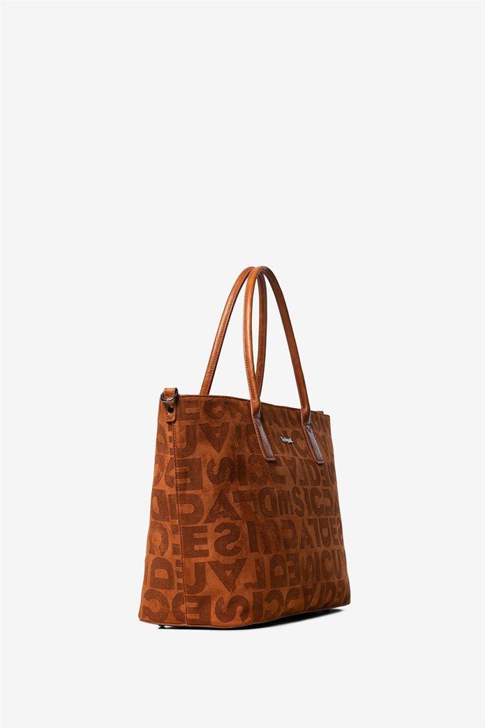 Desigual γυναικεία τσάντα ώμου με logo print 1