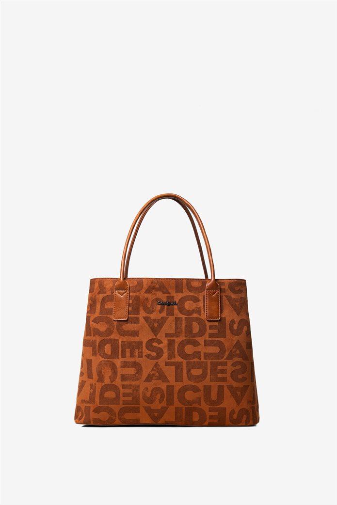 Desigual γυναικεία τσάντα ώμου με logo print 3