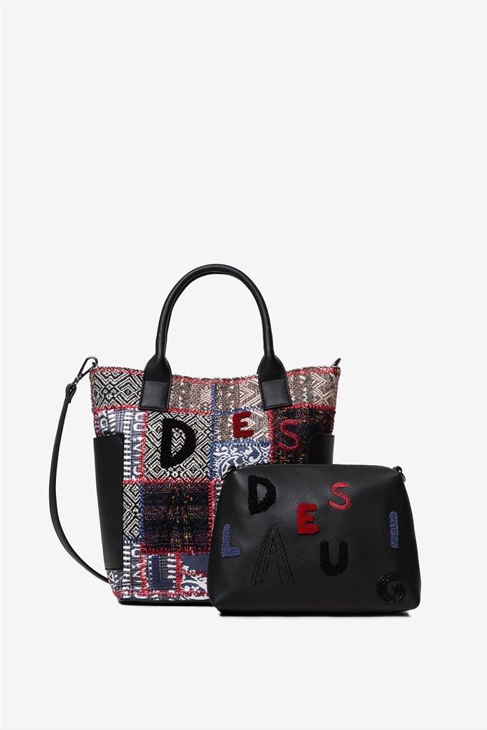 "Desigual γυναικεία τσάντα χειρός με patches ""Patch 1968 Shibuya"" 1"