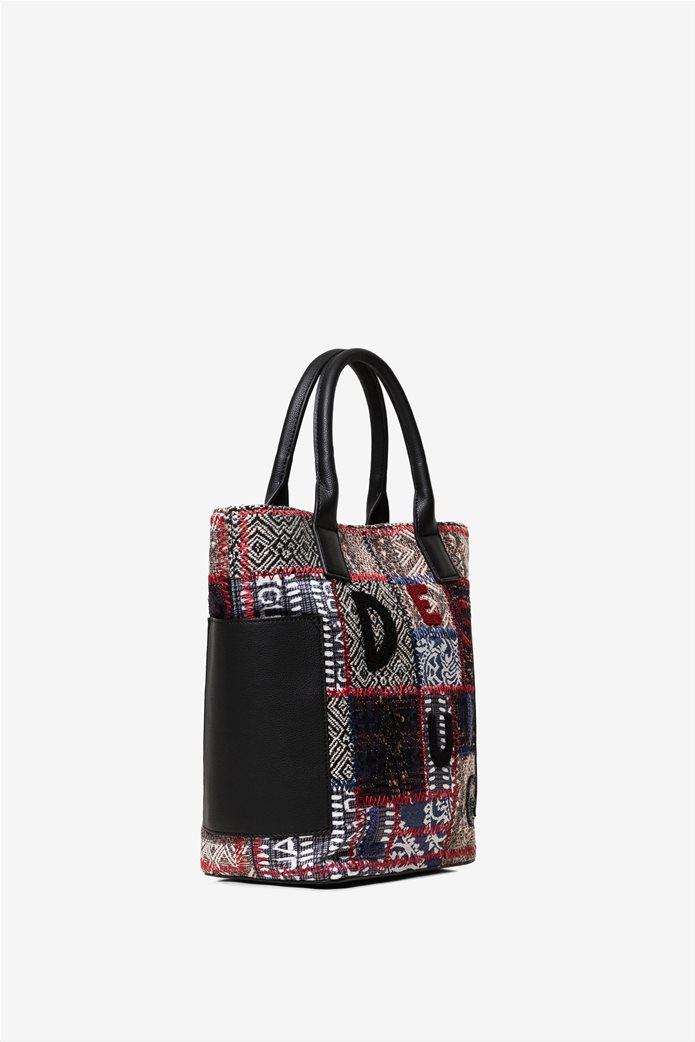 "Desigual γυναικεία τσάντα χειρός με patches ""Patch 1968 Shibuya"" 2"