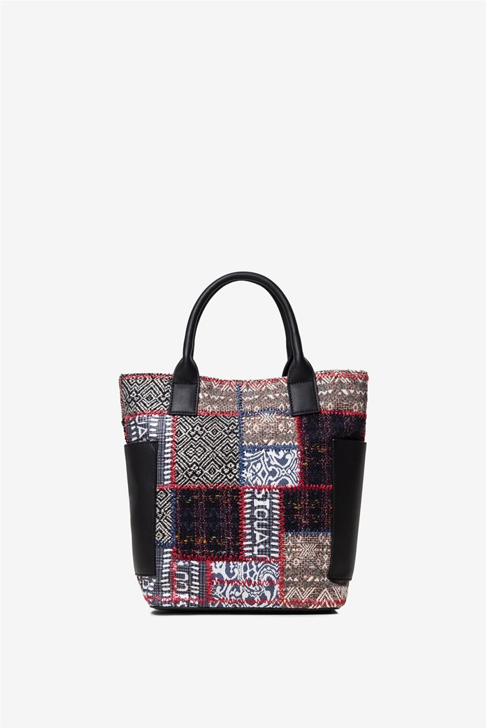 "Desigual γυναικεία τσάντα χειρός με patches ""Patch 1968 Shibuya"" 3"