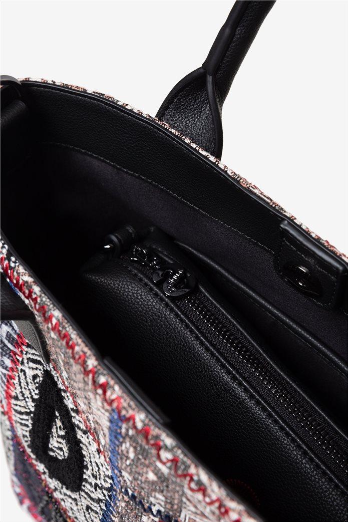 "Desigual γυναικεία τσάντα χειρός με patches ""Patch 1968 Shibuya"" 4"