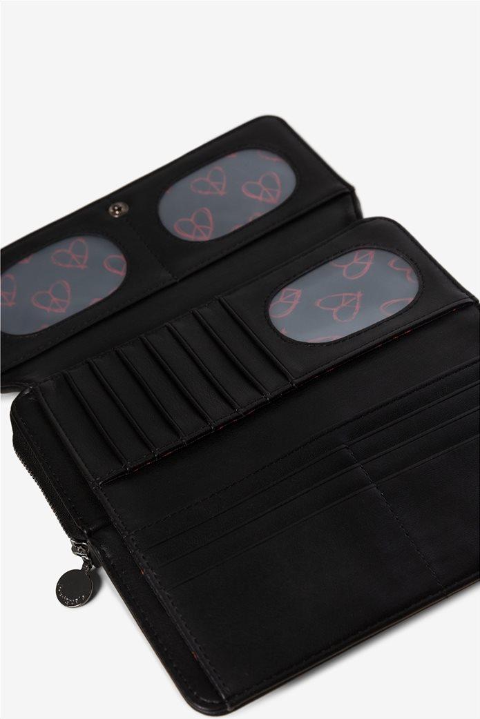 "Desigual γυναικείο πορτοφόλι με κεντήματα ""Beating heart Maria"" 2"