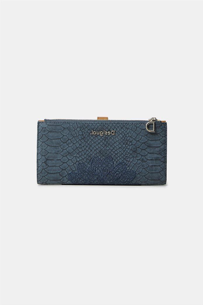 "Desigual γυναικείο πορτοφόλι με κέντημα ""Summer Aquiles"" 0"