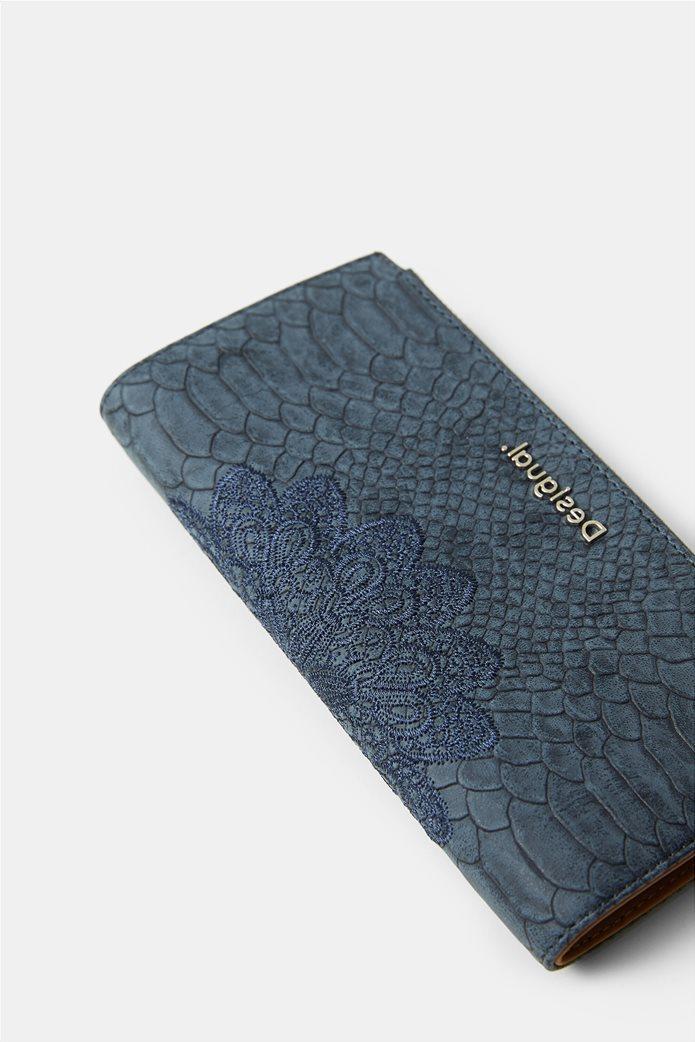 "Desigual γυναικείο πορτοφόλι με κέντημα ""Summer Aquiles"" 3"