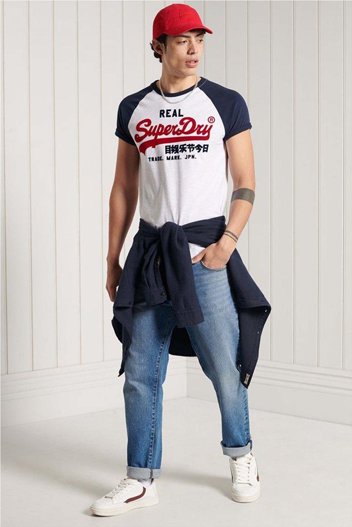 "Superdry ανδρικό T-shirt με απλικέ λογότυπο ""Vintage Logo Duo"" 1"