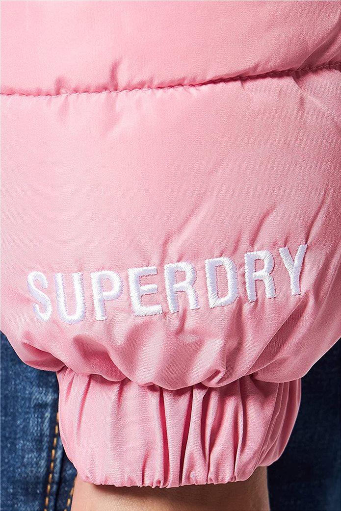 Superdry γυναικείo μπουφάν καπιτονέ με κουκούλα Ροζ 4