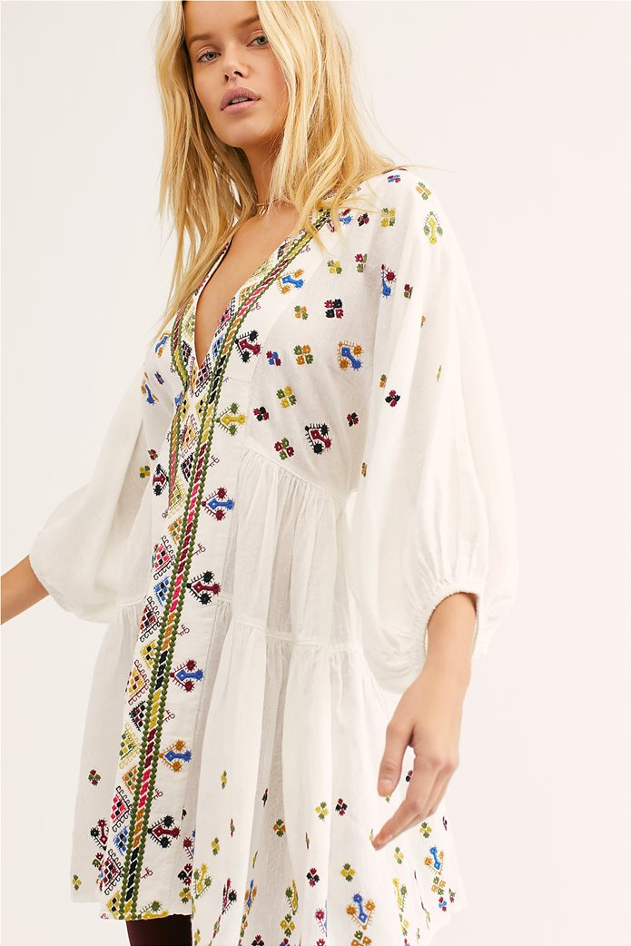 8508c4f081f FREE PEOPLE | Free People γυναικείο φόρεμα τουνίκ Light It Up Embroidered  Λευκό | notos