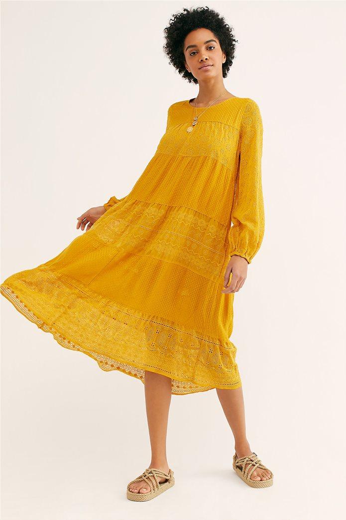 Free People γυναικείο φόρεμα κιπούρ Gemma Midi 0