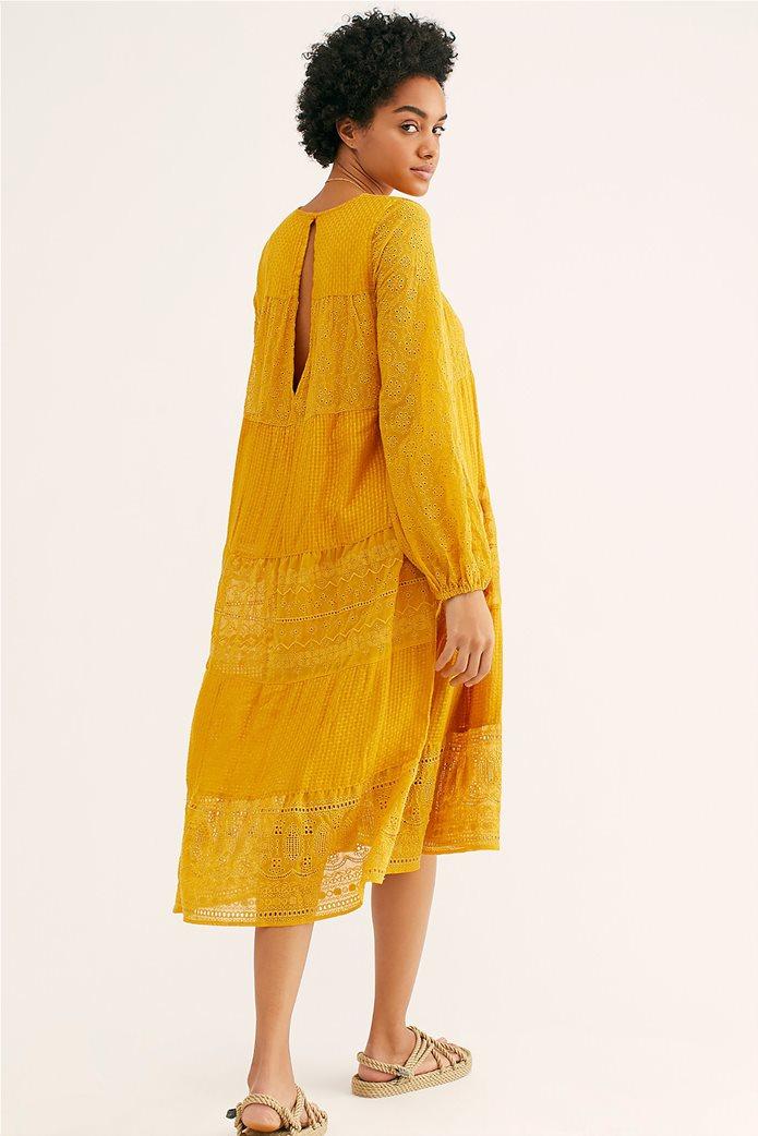 Free People γυναικείο φόρεμα κιπούρ Gemma Midi 2