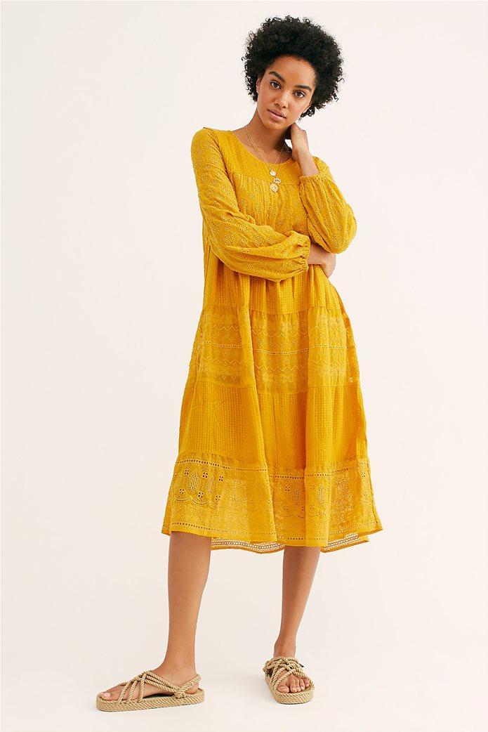 Free People γυναικείο φόρεμα κιπούρ Gemma Midi 3