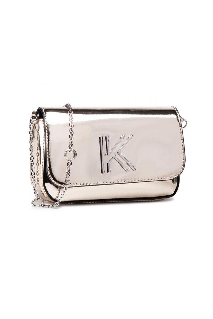 """Kendall + Kylie γυναικεία τσάντα crossbody με μεταλλικό λογότυπο """"Arya"""" 0"""