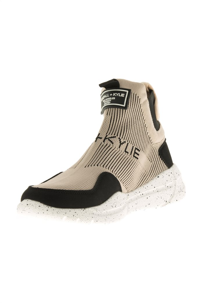 Kendall + Kylie γυναικεία sneakers μποτάκια με logo patch ''Niv'' Άσπρο 1