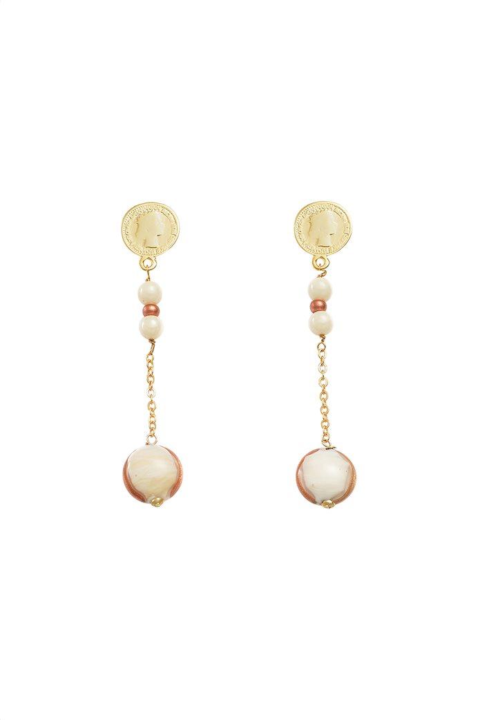 "Antica Murrina γυναικεία σκουλαρίκια από γυαλί Μουράνο  ""Mademoiselle Pendente Nude""  7 cm 0"