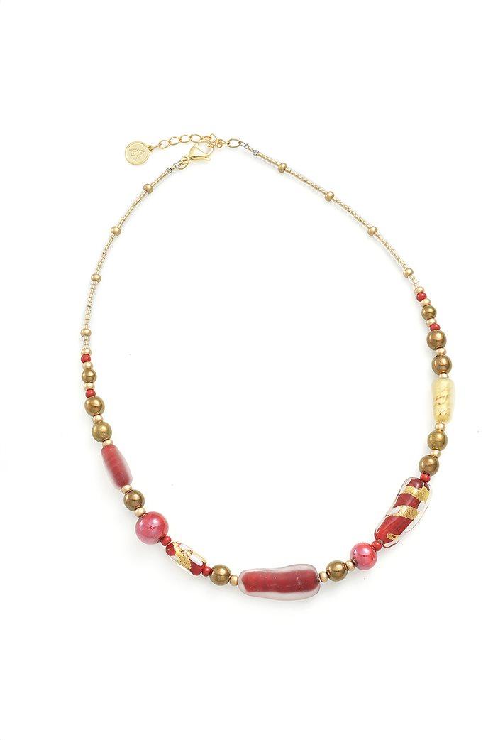 "Antica Murrina γυναικείο κολιέ από γυαλί Μουράνο ""Gabrielle Girocollo Red"" 53-54 cm 0"