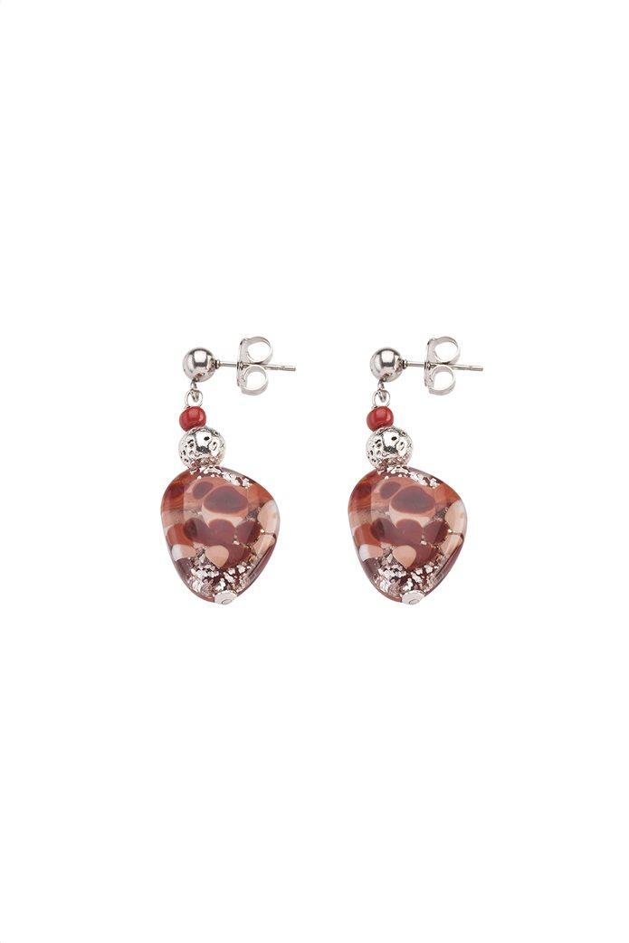 "Antica Murrina γυναικεία σκουλαρίκια από γυαλί Μουράνο ""Αllure  Pendente Red"" 3.5 cm 0"