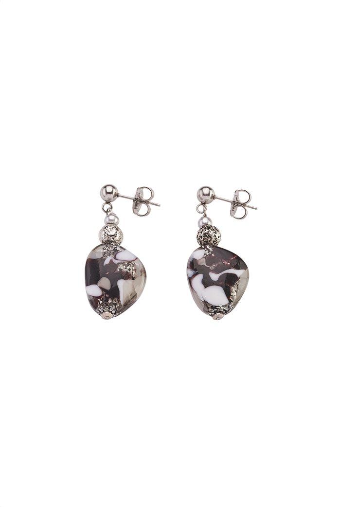 "Antica Murrina γυναικεία σκουλαρίκια από γυαλί Μουράνο ""Αllure Pendente Black"" 3.5 cm 0"
