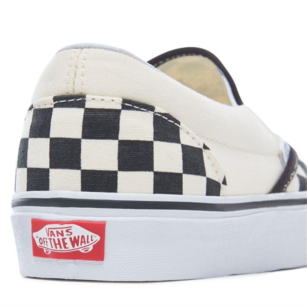 Vans unisex υφασμάτινα παπούτσια με καρό σχέδιο Classic Slip-On 4