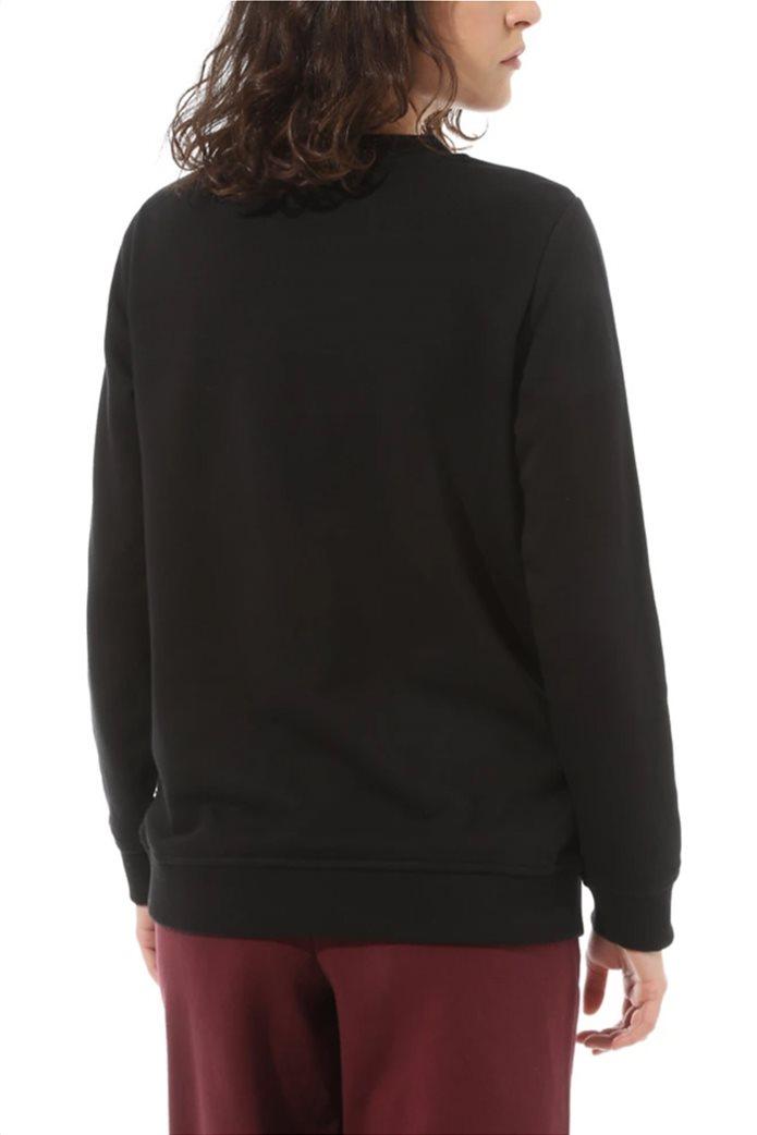 "Vans γυναικείο φούτερ με logo print ""Classic V Crew"" Μαύρο 1"