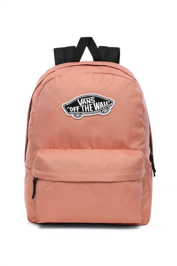 """Vans unisex backpack με logo patch """"RealM"""" Σομον 0"""