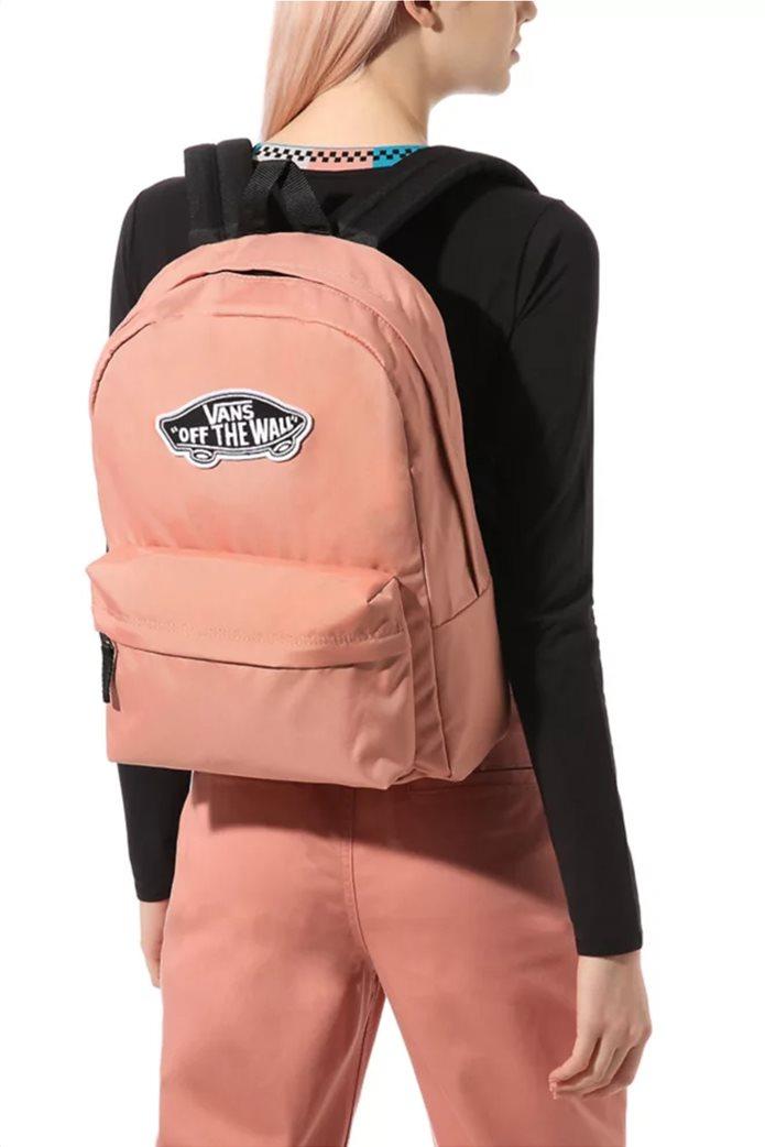 """Vans unisex backpack με logo patch """"RealM"""" Σομον 1"""
