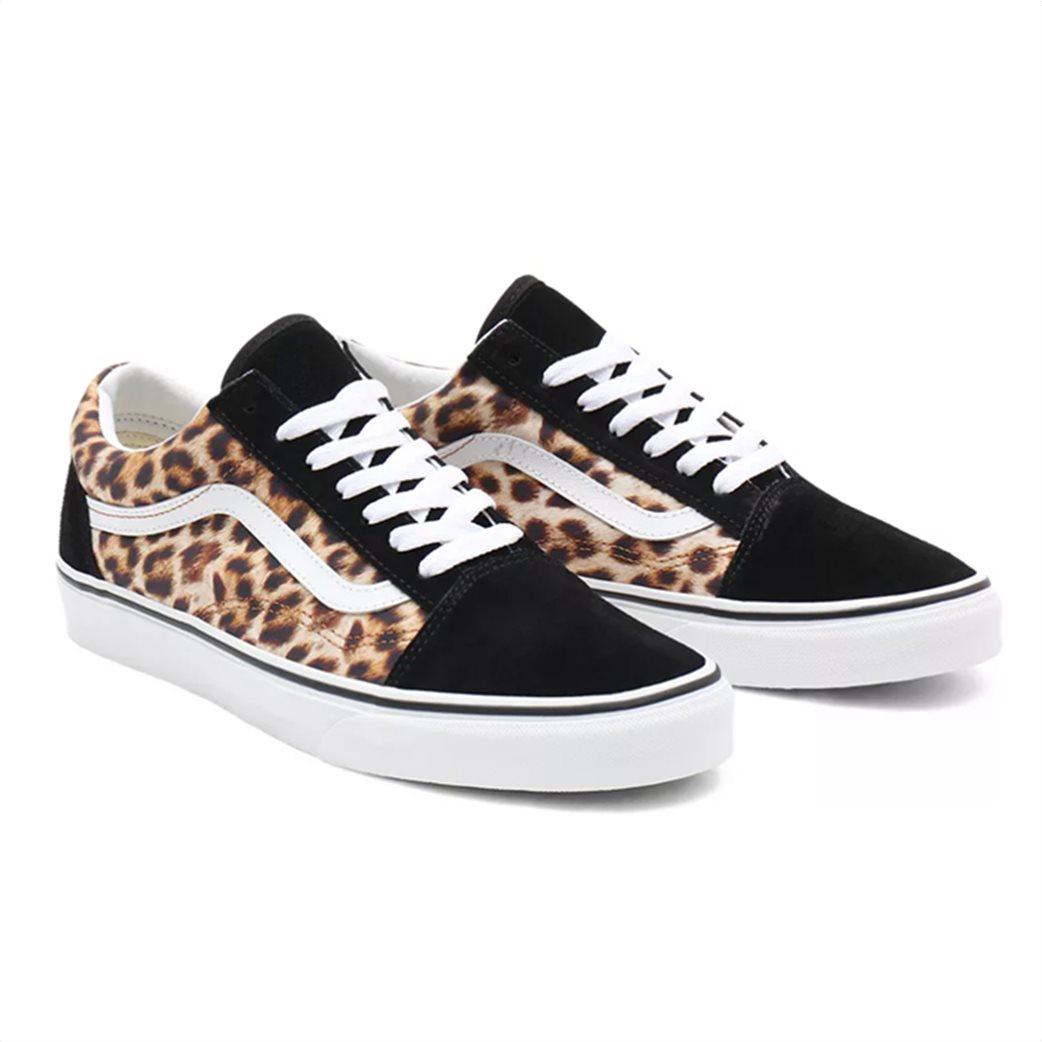 """Vans unisex suede sneakers με animal print """"Leopard Old Skool"""" 1"""