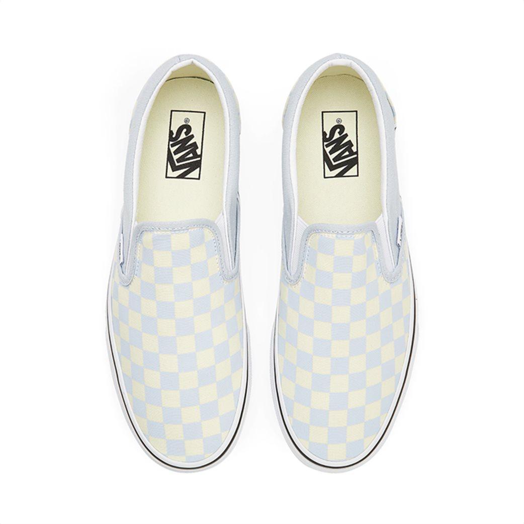 Vans unisex υφασμάτινα παπούτσια ''Classic Slip-On'' Ανοιχτό Γαλάζιο 3