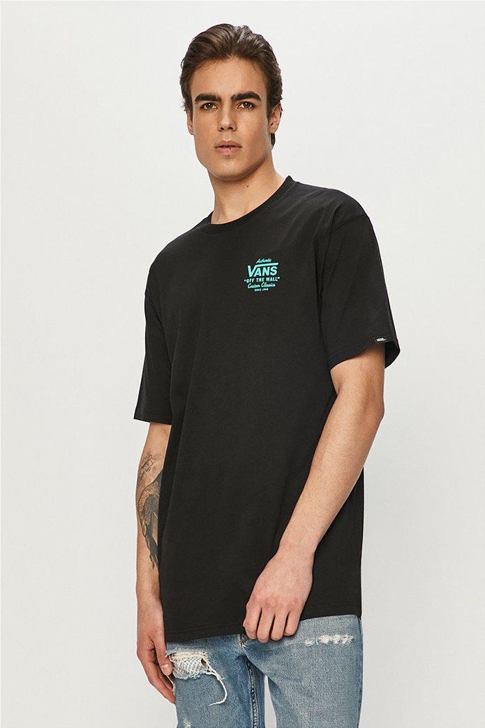 Vans ανδρικό T-Shirt με oversized logo print στο πίσω μέρος ''Holder'' Μαύρο 0