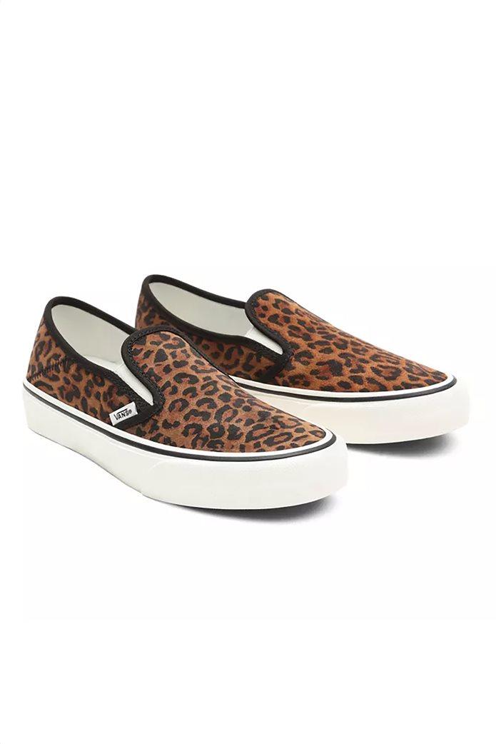 "Vans γυναικεία παπούτσια ""Leopard Slip-On"" Καφέ 1"