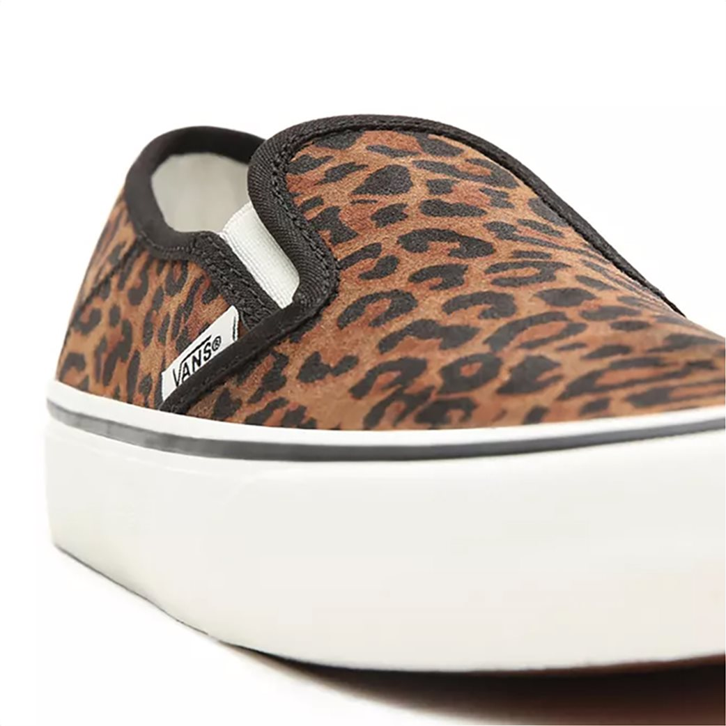"Vans γυναικεία παπούτσια ""Leopard Slip-On"" Καφέ 4"