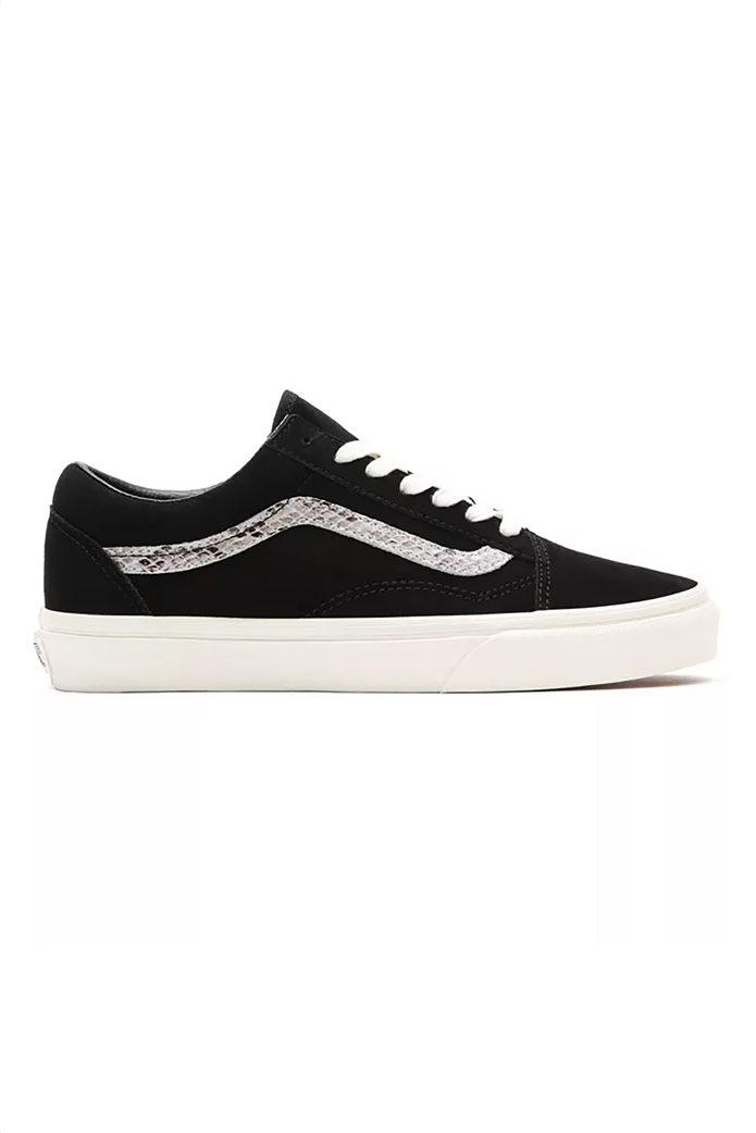 Vans γυναικεία sneakers με snakeskin λεπτομέρεια ''Suede/Snake Old Skool'' Μαυρο 0