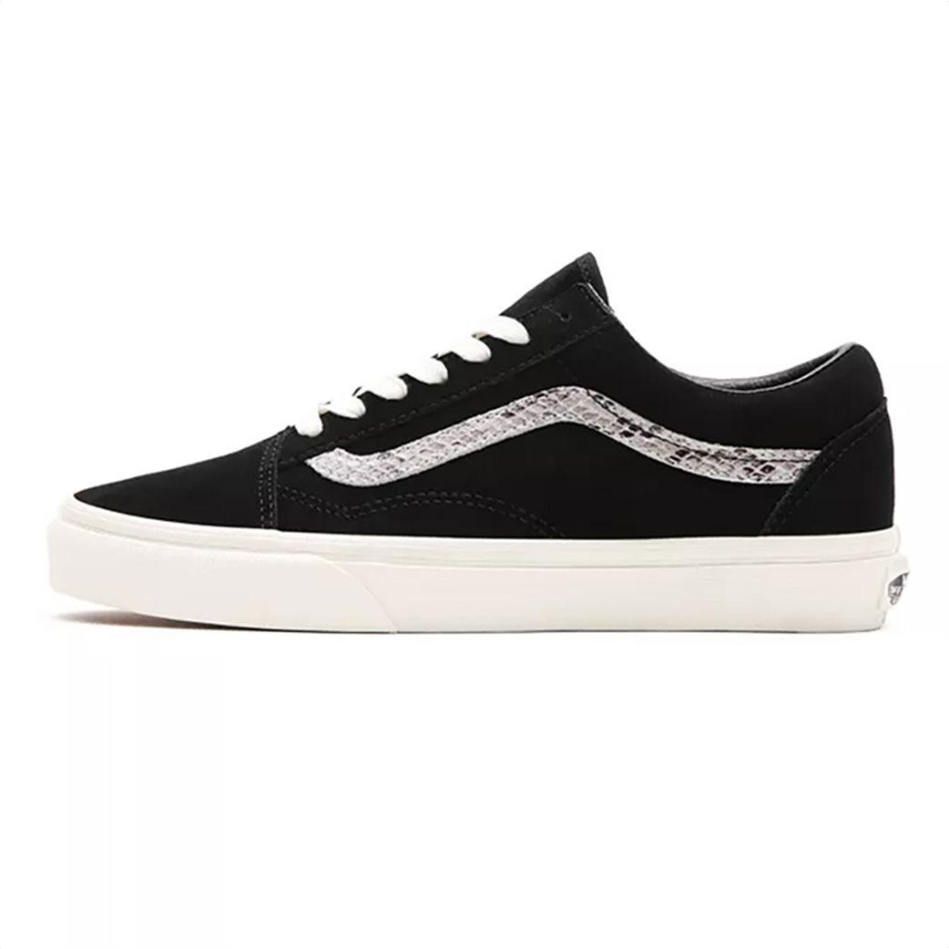 Vans γυναικεία sneakers με snakeskin λεπτομέρεια ''Suede/Snake Old Skool'' Μαυρο 2