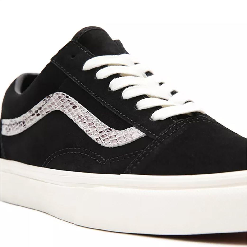 Vans γυναικεία sneakers με snakeskin λεπτομέρεια ''Suede/Snake Old Skool'' Μαυρο 4