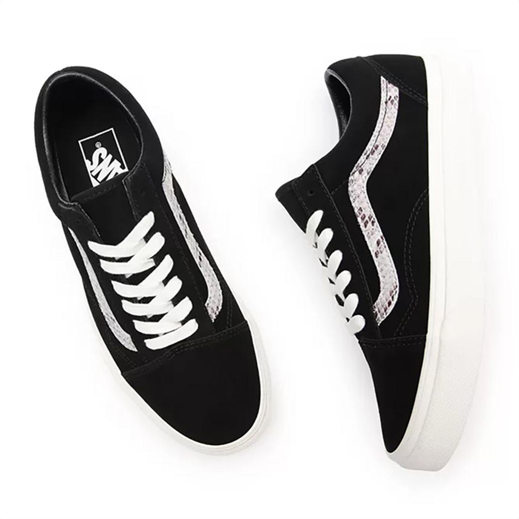 Vans γυναικεία sneakers με snakeskin λεπτομέρεια ''Suede/Snake Old Skool'' Μαυρο 5