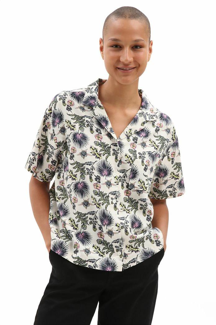 Vans γυναικείο πουκάμισο με all-over floral print ''Califas'' Άσπρο 0
