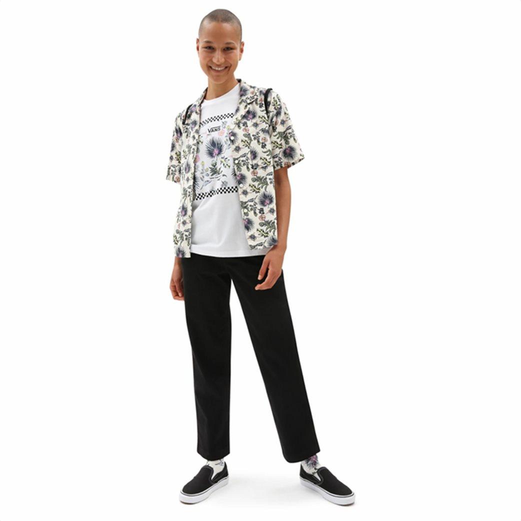 Vans γυναικείο πουκάμισο με all-over floral print ''Califas'' Άσπρο 2