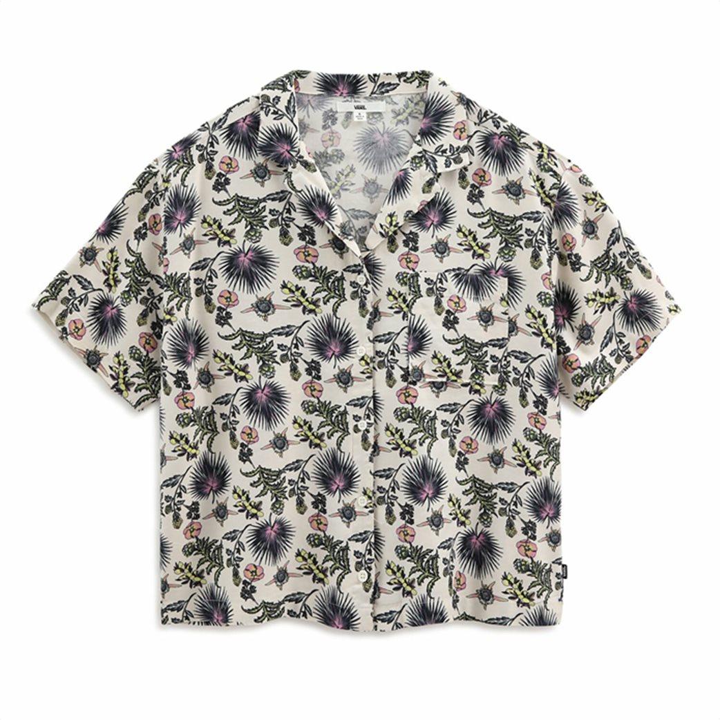 Vans γυναικείο πουκάμισο με all-over floral print ''Califas'' Άσπρο 4