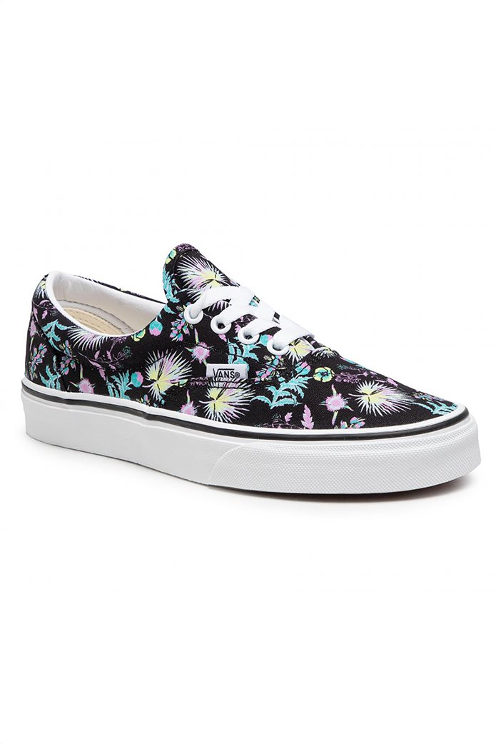 Vans unisex sneakers με floral print ''Εra'' Μαύρο 1