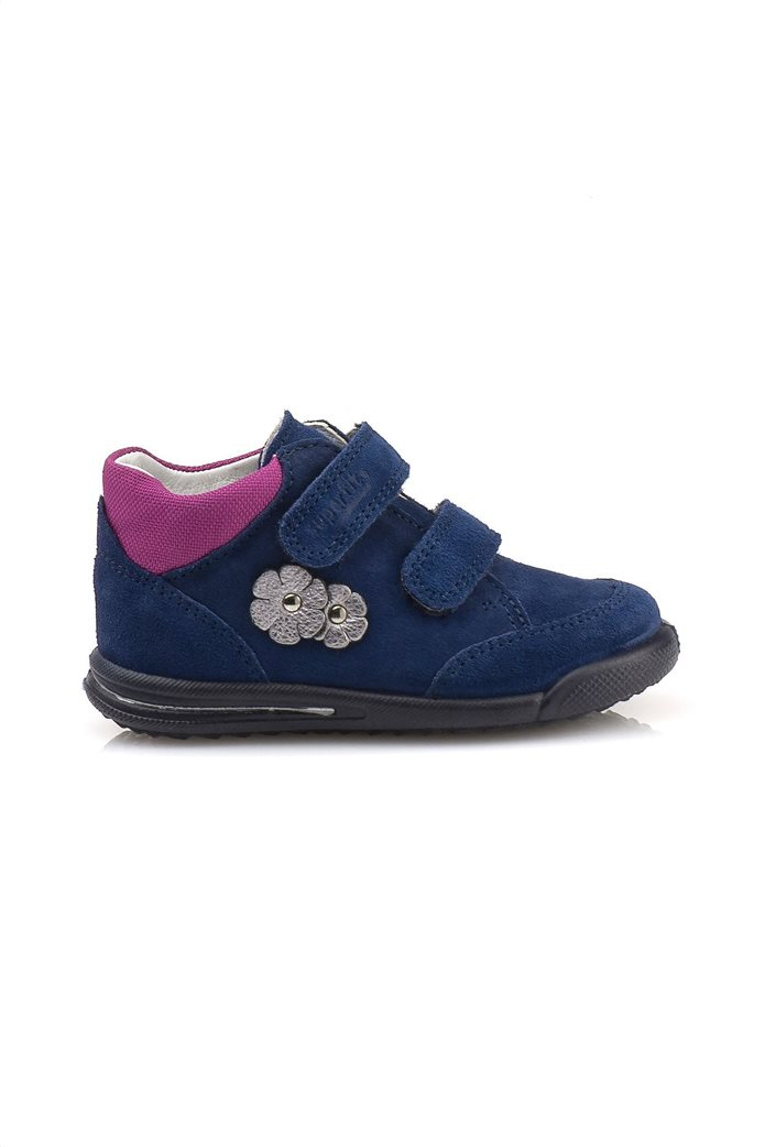 SUPERFIT βρεφικά παπούτσια με απλικέ λουλούδια 0