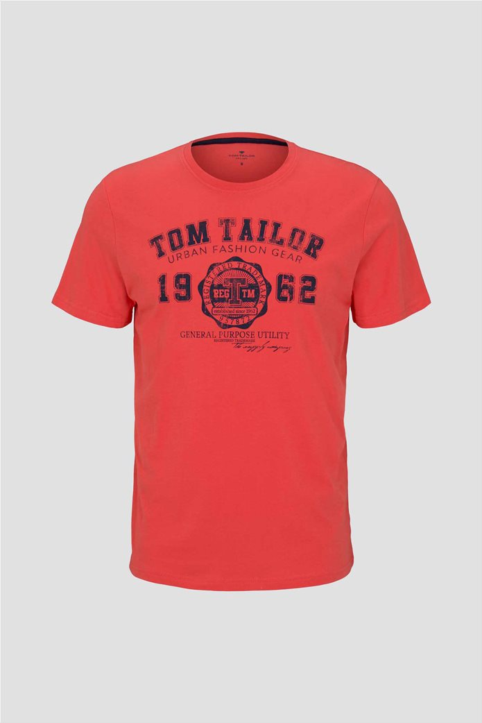 Tom Tailor ανδρικό T-Shirt με logo print 4