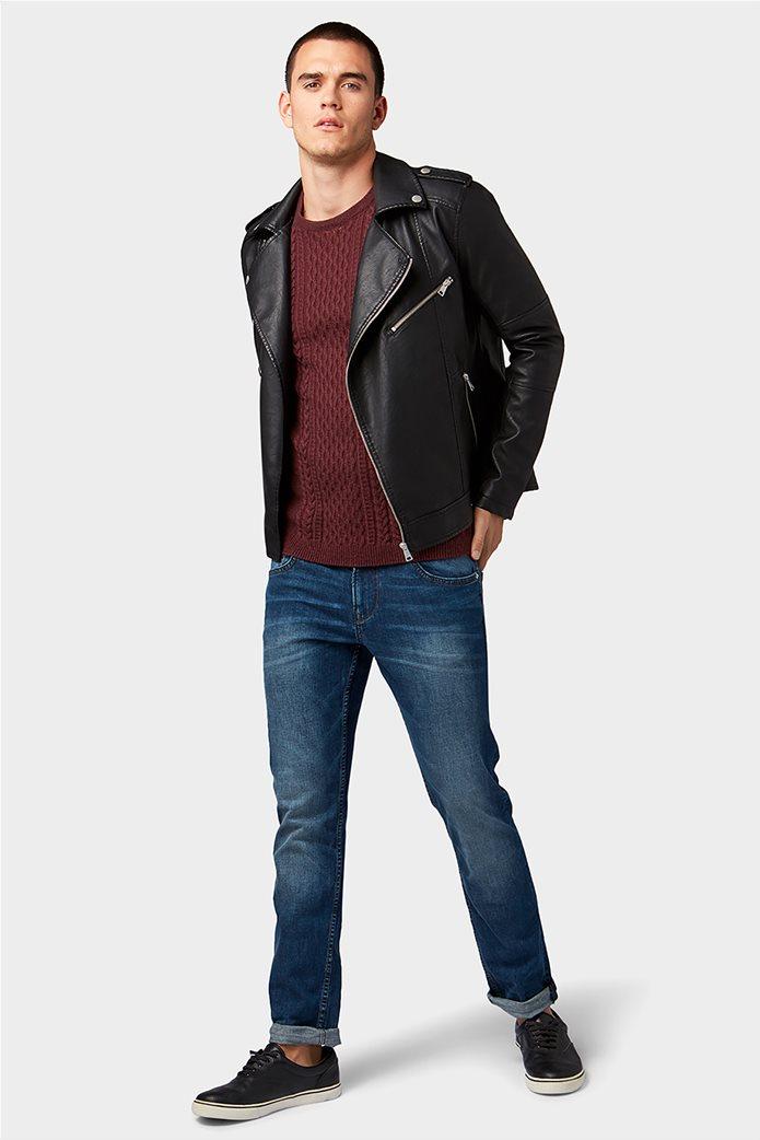 TOM TAILOR ανδρικό τζην  παντελόνι πεντάτσεπο Slim fit Aedan 0