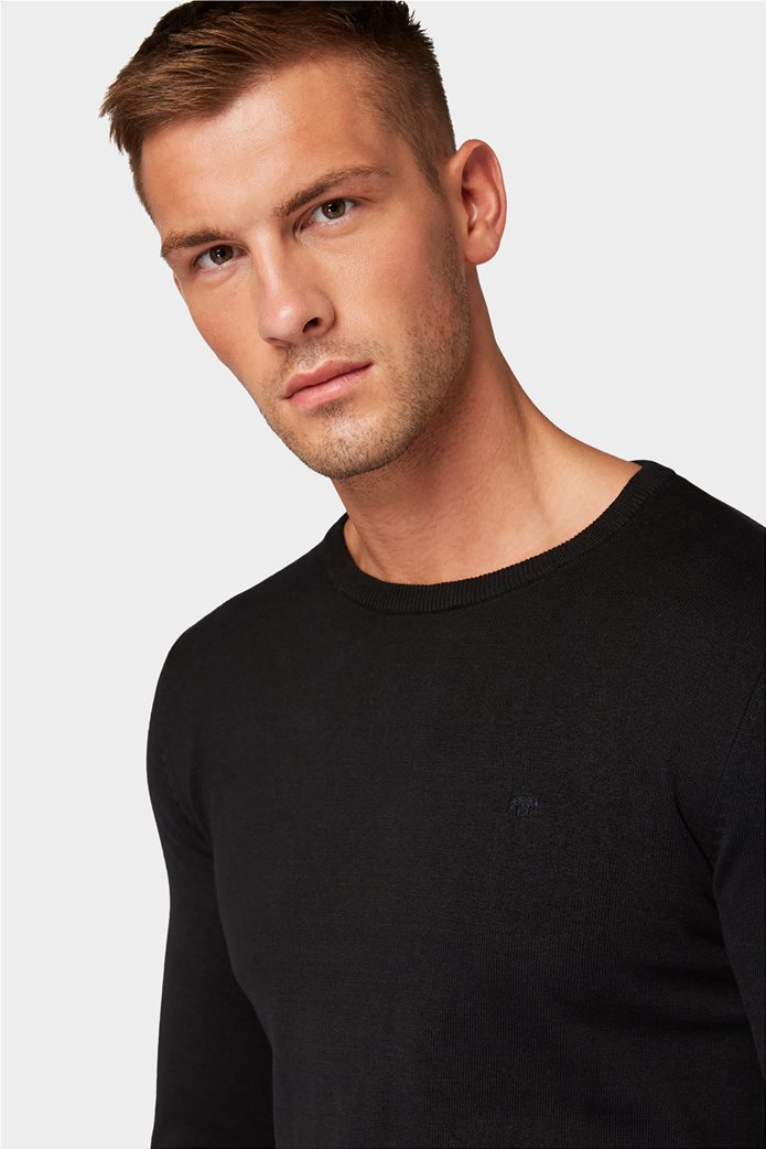 Tom Tailor ανδρική πλεκτή μπλούζα με στρογγυλή λαιμόκοψη 1