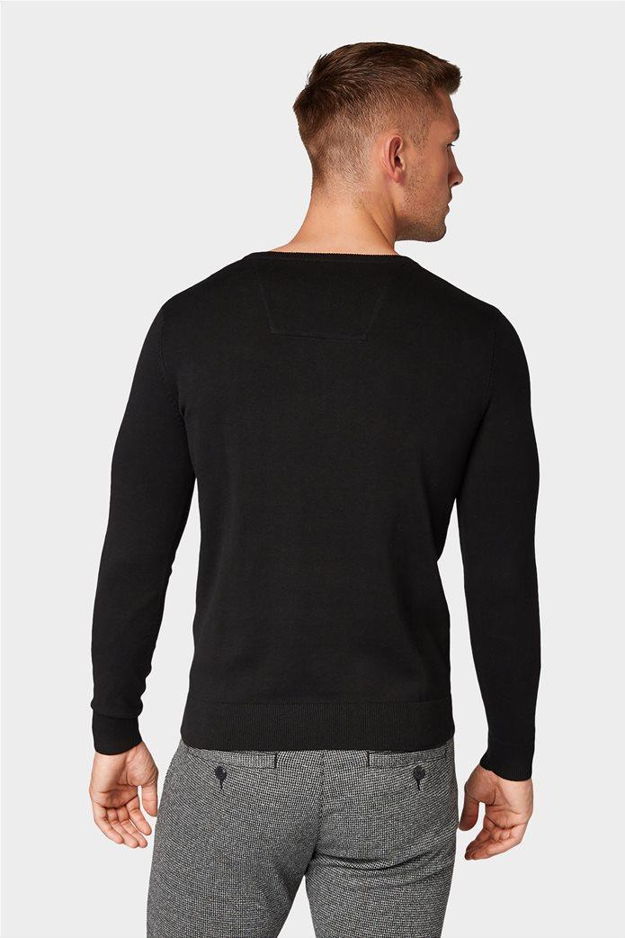 Tom Tailor ανδρική πλεκτή μπλούζα με στρογγυλή λαιμόκοψη 3