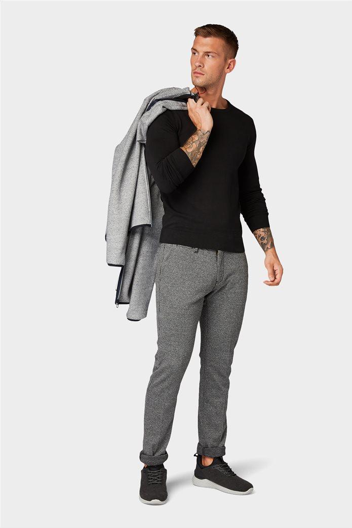 Tom Tailor ανδρική πλεκτή μπλούζα με στρογγυλή λαιμόκοψη 4