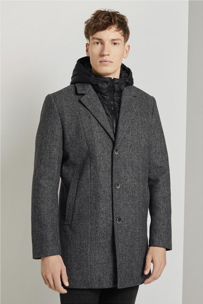 Tom Tailor ανδρικό πολυμορφικό παλτό με κουκούλα 0