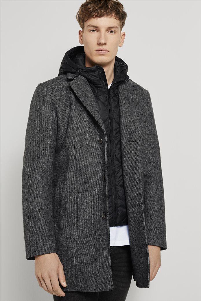 Tom Tailor ανδρικό πολυμορφικό παλτό με κουκούλα 1