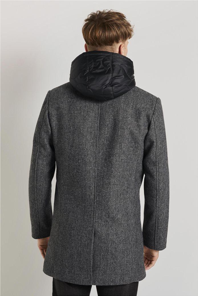 Tom Tailor ανδρικό πολυμορφικό παλτό με κουκούλα 2
